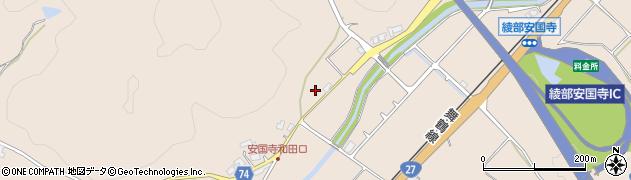 京都府綾部市安国寺町(井根尻)周辺の地図