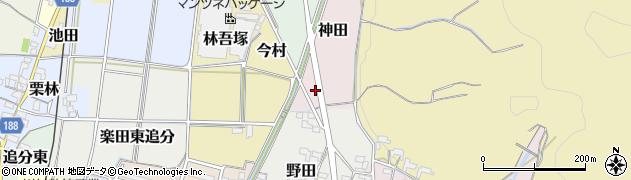 愛知県犬山市神田周辺の地図
