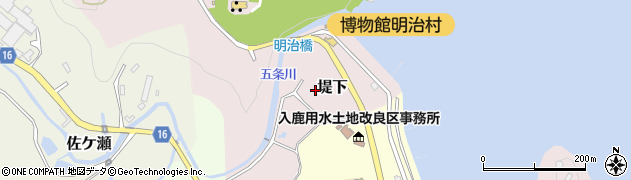 愛知県犬山市堤下周辺の地図