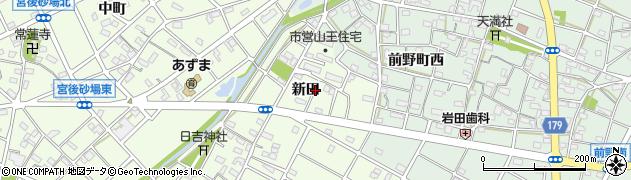 愛知県江南市山王町(新田)周辺の地図