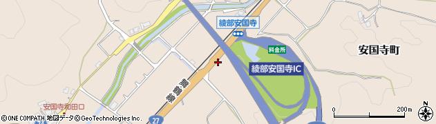 京都府綾部市安国寺町(南稲葉)周辺の地図