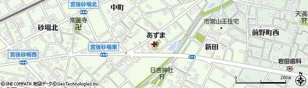 愛知県江南市宮後町(出屋敷)周辺の地図