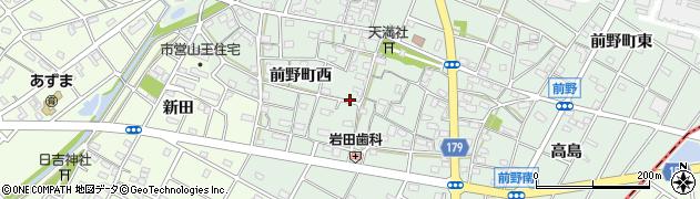 愛知県江南市前野町(西)周辺の地図