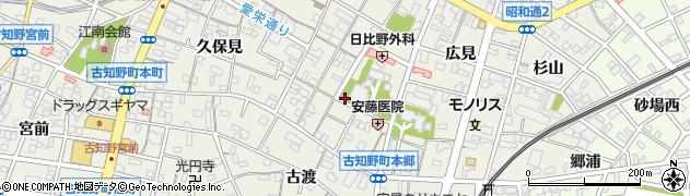 愛知県江南市古知野町(本郷)周辺の地図