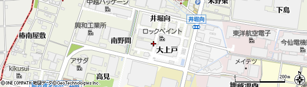 愛知県犬山市羽黒新田(大上戸)周辺の地図