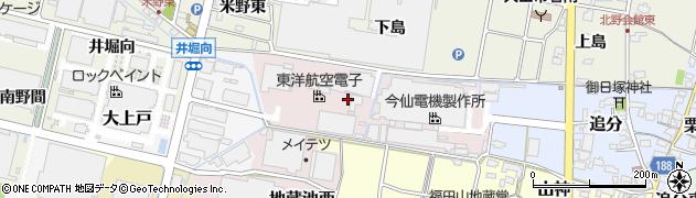 愛知県犬山市柿畑周辺の地図