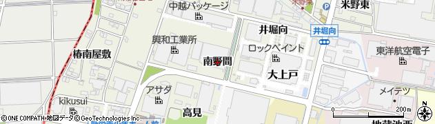 愛知県犬山市羽黒新田(南野間)周辺の地図