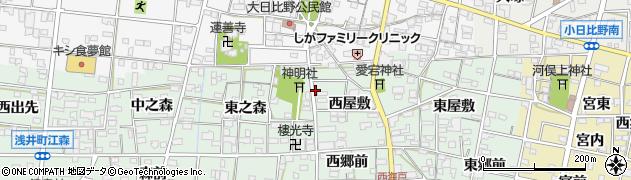 愛知県一宮市浅井町西海戸(新田)周辺の地図