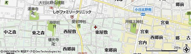 愛知県一宮市浅井町西海戸(高瀬前)周辺の地図