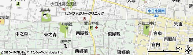 愛知県一宮市浅井町西海戸(形人)周辺の地図
