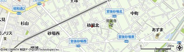 愛知県江南市宮後町(砂場北)周辺の地図