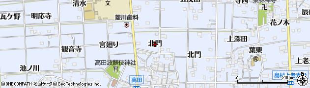 愛知県一宮市高田(北門)周辺の地図