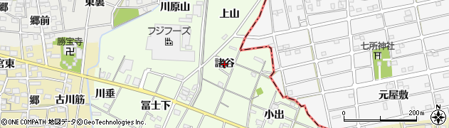 愛知県一宮市瀬部(諸谷)周辺の地図