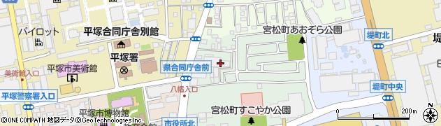 神奈川県平塚市宮松町周辺の地図