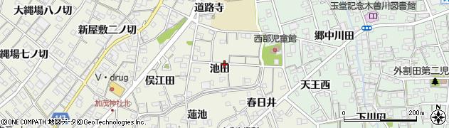 愛知県一宮市木曽川町玉ノ井(池田)周辺の地図
