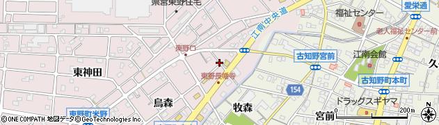 愛知県江南市東野町(長幡寺)周辺の地図
