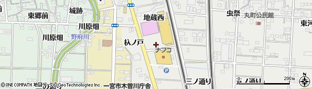 愛知県一宮市木曽川町黒田(上仲沖)周辺の地図