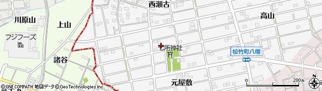 愛知県江南市松竹町(八幡)周辺の地図