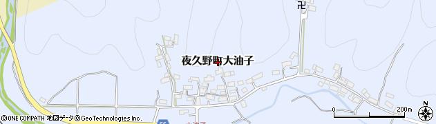 京都府福知山市夜久野町大油子周辺の地図