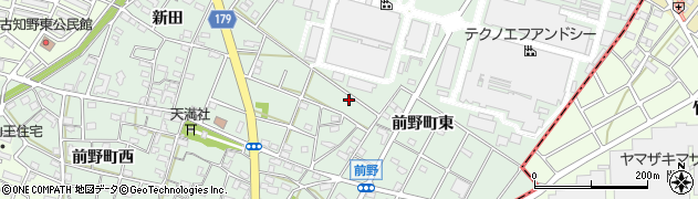 愛知県江南市前野町(東)周辺の地図