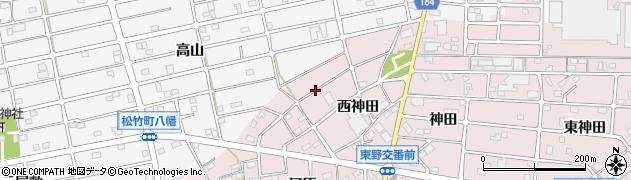 愛知県江南市東野町(西神田)周辺の地図