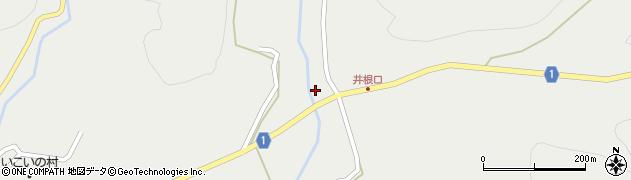 京都府綾部市井根町(菱田)周辺の地図