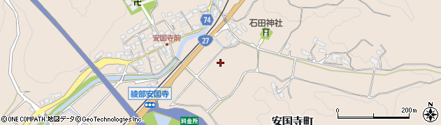 京都府綾部市安国寺町(宮ノ前)周辺の地図