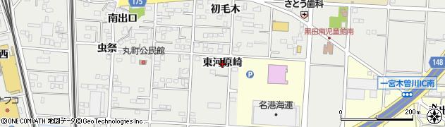 愛知県一宮市木曽川町黒田(東河原崎)周辺の地図