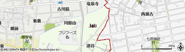 愛知県一宮市瀬部(上山)周辺の地図