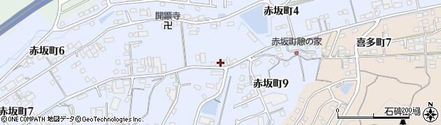 岐阜県多治見市赤坂町周辺の地図