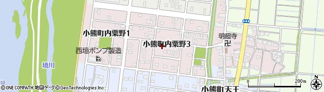岐阜県羽島市小熊町内粟野周辺の地図