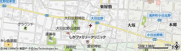 愛知県一宮市浅井町大日比野(蛹野)周辺の地図