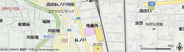 愛知県一宮市木曽川町黒田(地蔵西)周辺の地図