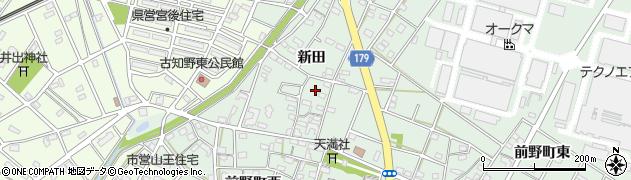 愛知県江南市前野町(新田)周辺の地図