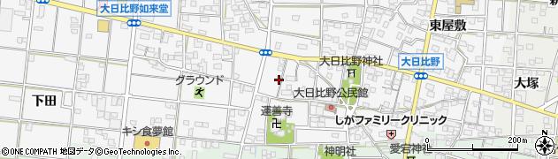 愛知県一宮市浅井町大日比野(南流)周辺の地図