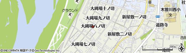 愛知県一宮市木曽川町玉ノ井(大縄場八ノ切)周辺の地図