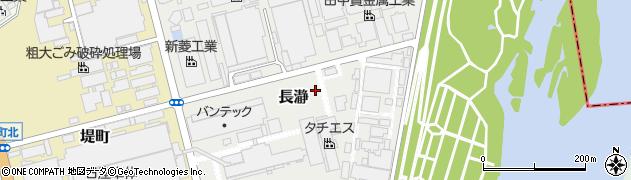 神奈川県平塚市長瀞周辺の地図
