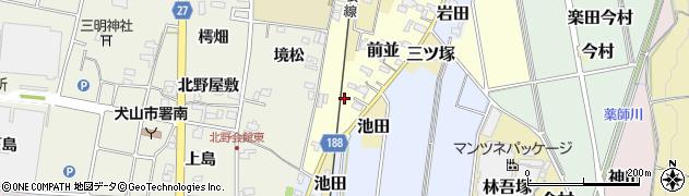 愛知県犬山市前並周辺の地図