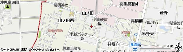 愛知県犬山市羽黒新田(北野間)周辺の地図