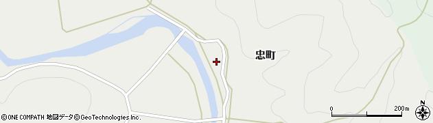 京都府綾部市忠町周辺の地図