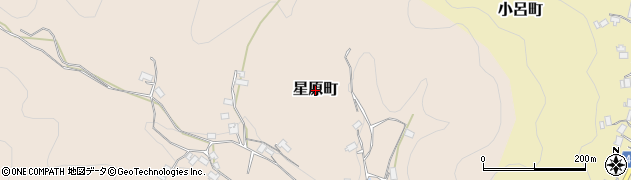 京都府綾部市星原町周辺の地図