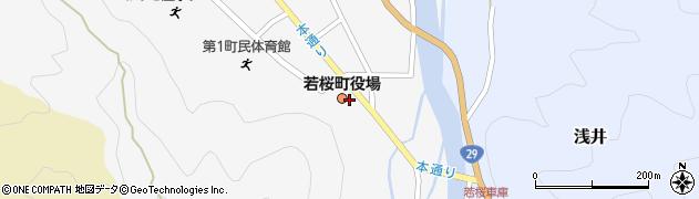 鳥取県八頭郡若桜町周辺の地図