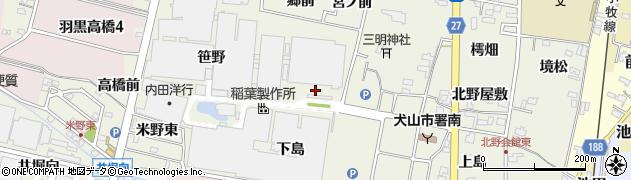 愛知県犬山市羽黒新田(三右エ門屋敷)周辺の地図
