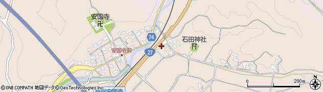 京都府綾部市安国寺町(中縄手)周辺の地図