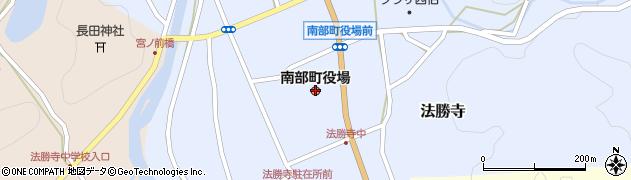 鳥取県南部町(西伯郡)周辺の地図
