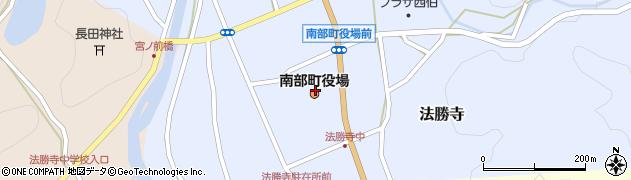 鳥取県西伯郡南部町周辺の地図