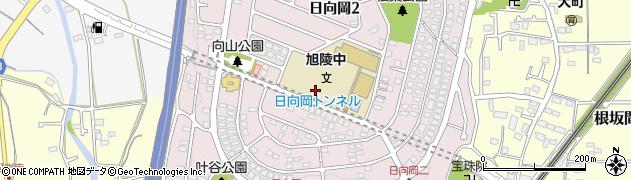 神奈川県平塚市日向岡周辺の地図