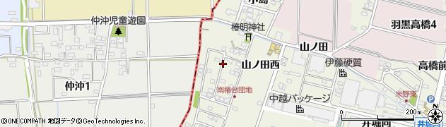 愛知県犬山市羽黒新田(椿北屋敷)周辺の地図