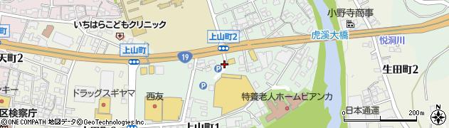 岐阜県多治見市上山町周辺の地図