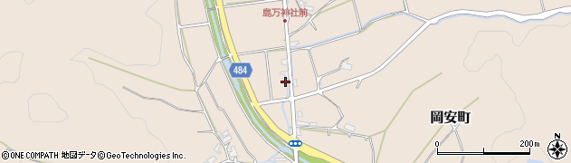 京都府綾部市中筋町(緩復)周辺の地図